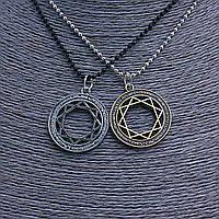 [3см] Подвески набор пара, шариковые цепи черная и серая с круглыми подвесками