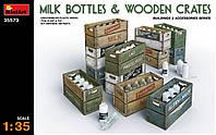 Молочные бутылки с ящиками 1/35