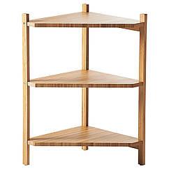 RÅGRUND Угловой стеллаж под раковину, бамбук 402.530.76