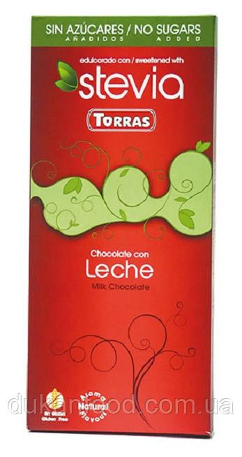 Torras Молочный шоколад со стевией, без сахара