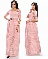 Платье полупрозрачное в пол с пышной юбкой .03380 (НАТ)