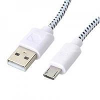 Кабель micro USB (2.0) 1m (плетёный)