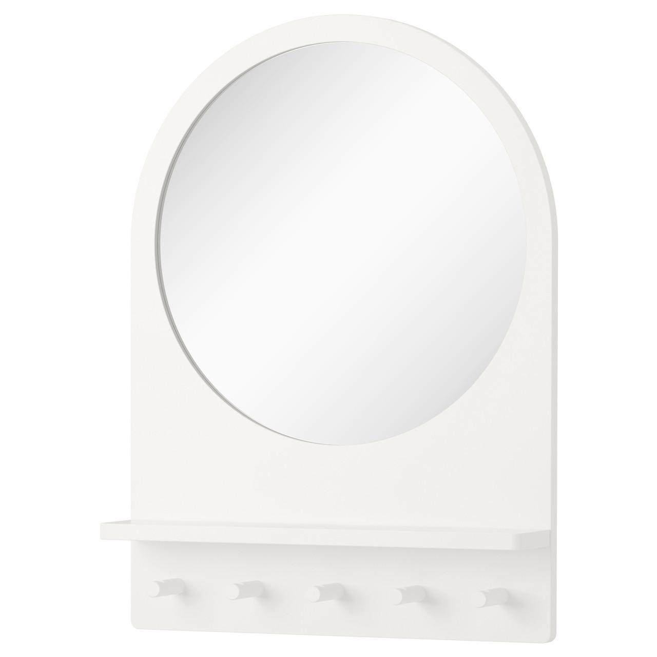 SALTRÖD Зеркало с полочкой и крючками, белый 003.050.77