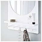SALTRÖD Зеркало с полочкой и крючками, белый 003.050.77, фото 3