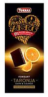 Torras Черный шоколад с АПЕЛЬСИНОМ , без сахара