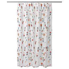 Штора для ванной IKEA OSENFIBBLA 180x200 см белый 003.247.97