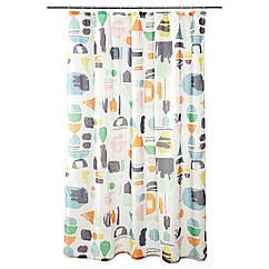 Штора для ванной IKEA DOFTKLINT 180x200 см  разноцветный 703.221.77