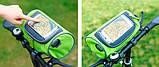 Сумка-органайзер на руль водонепроницаемая (синий), фото 3