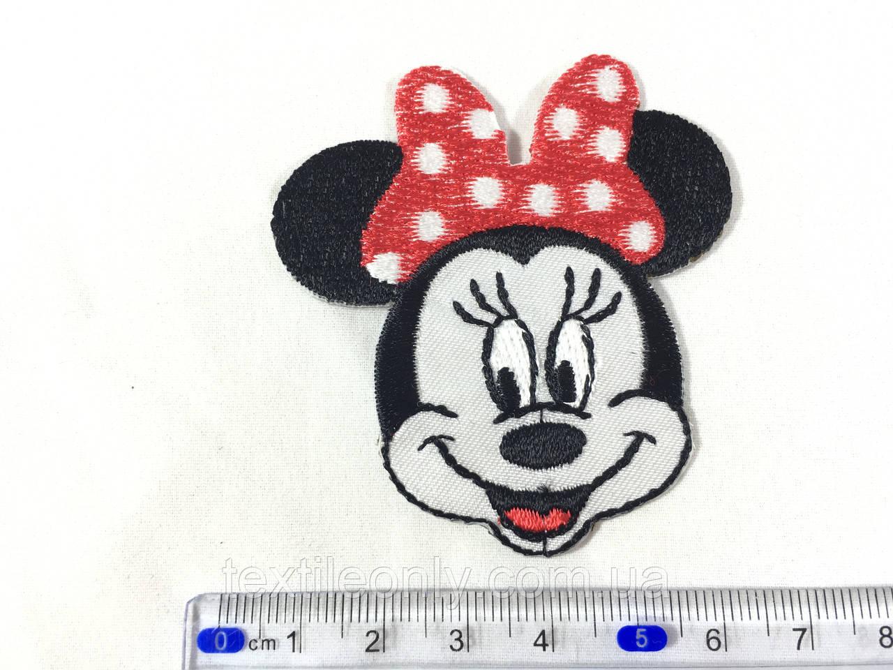 Детская нашивка Минни Маус атлас 6 см