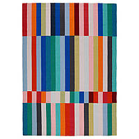 HALVED Ковер, безворсовый, ручная работа разноцветный