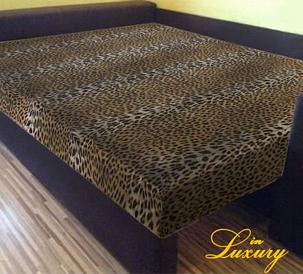 """Простынь на резинке 160х200 см """"Леопард"""" in Luxury™ 32009"""