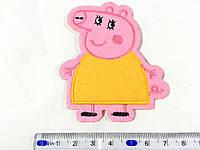 Детская нашивка Мама свинка