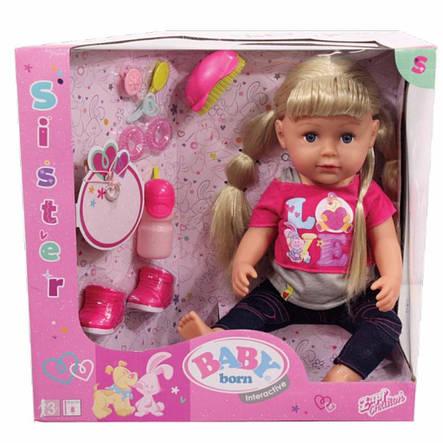 """Куклы и пупсы «BABY born» (820704) интерактивный пупс """"Старшая сестрёнка"""" с аксессуарами, 43 см, фото 2"""