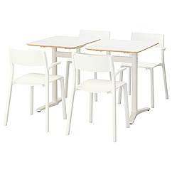 BILLSTA / JANINGE Стол и 4 стула, белый, белый 391.287.19