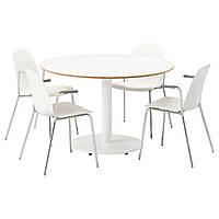 BILLSTA / LEIFARNE Стол и 4 стула, белый, белый