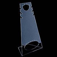 Подставка для серёг, цепочек, подвесок, прозрачный пластик, высота 260мм