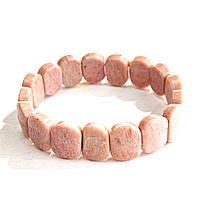 [10 см] Браслет на резинке Родонит овальные камни