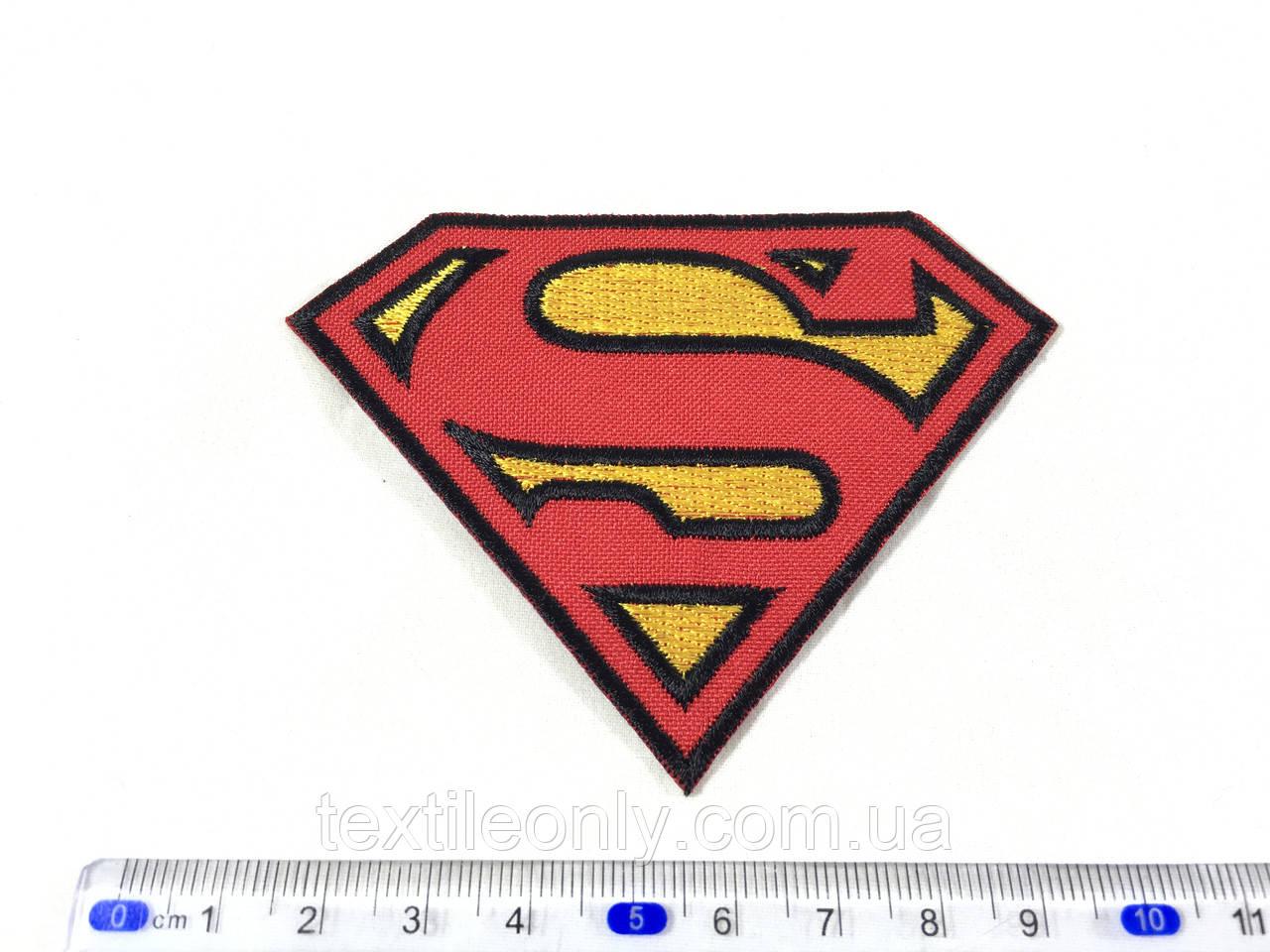 Нашивка Superman супермен 90х70 мм