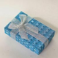 Подарочная коробочка для для сережек и колец прямоугольная Блестящяя средняя 24 шт.[8/5/3 см]
