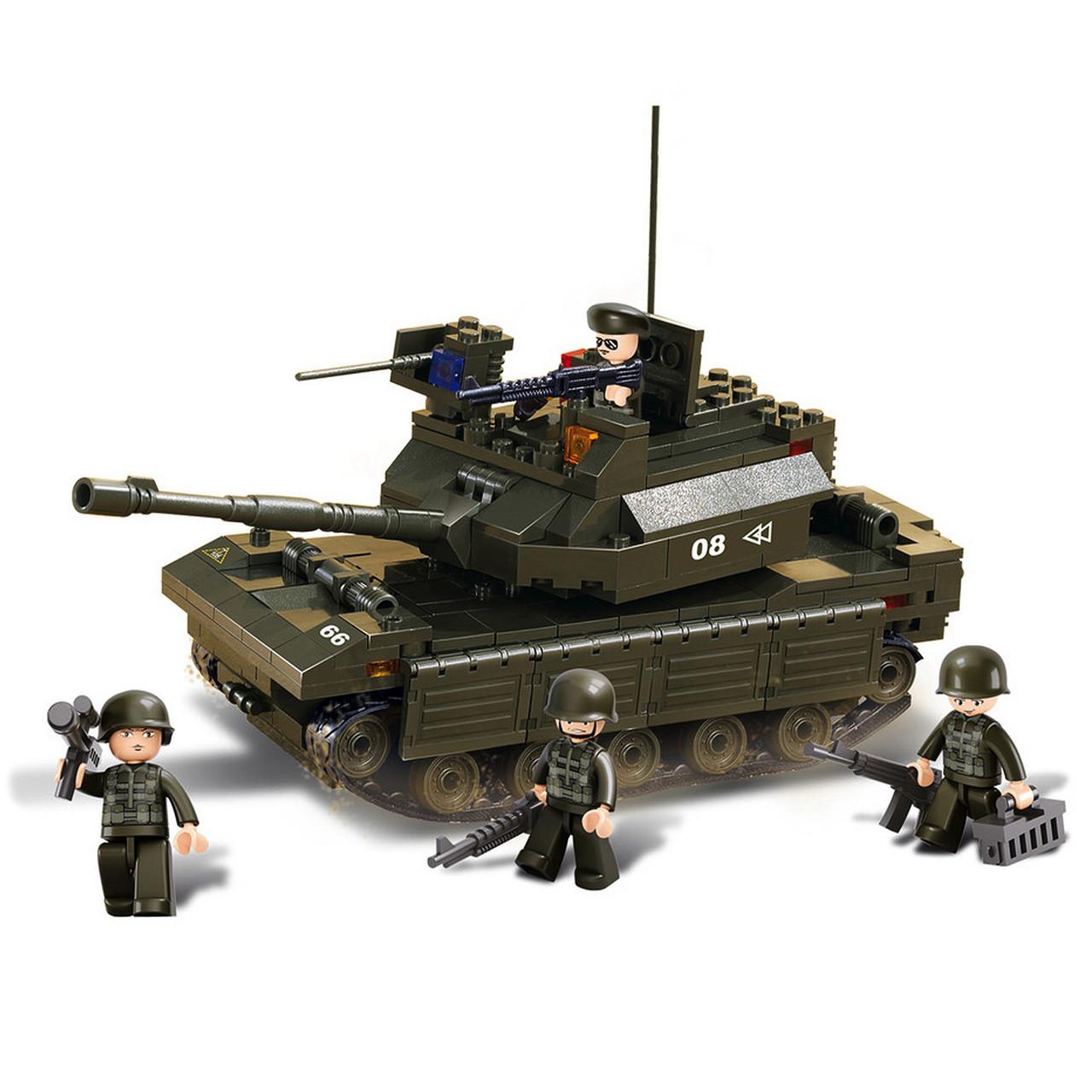 Конструктор «Sluban» (M38-B6500) танк, 312 элементов