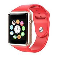 Часы Smart watch A1 для iOS/Android Red (смарт часы) красные