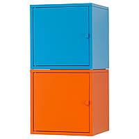 LIXHULT Стеллаж, оранжевый, синий