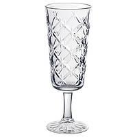 FLIMRA Бокал для шампанского, прозрачное стекло, с рисунком