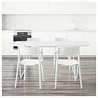 OPPEBY/ BACKARYD / JANINGE Стол и 4 стула, белый, белый, фото 2