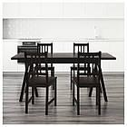 RYGGESTAD/ GREBBESTAD / STEFAN Стол и 4 стула, черный, brązowoczarny, фото 2