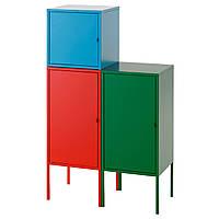 LIXHULT Комбинация д/хранения, красный, синий/зеленый
