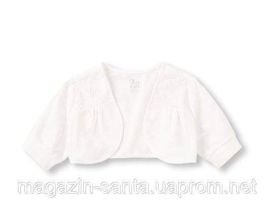Болеро дівчинці нарядна кофточка дитяча біле