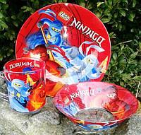 Детский набор посуды Ниндзяго (3 предмета)