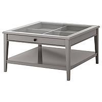 LIATORP Журнальный стол, серый, стекло