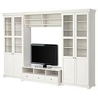 LIATORP Шкаф для ТВ, комбинация, белый