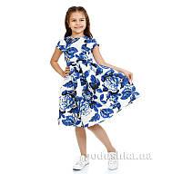 Платье Kids Couture Платье 1-001 синие цветы 116