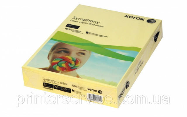 Цветная бумага Xerox SYMPHONY Pastel Yellow, (160) A4  250л. (003R93231)