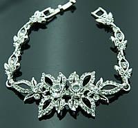 Праздничные женские браслеты под серебро оптом. 1024