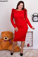 Женское модное платье по колено с натуральным мехом лисы Различные цвета Размеры 46-56