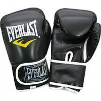 Перчатки боксерские черные 8, 10, 12 oz Everlast