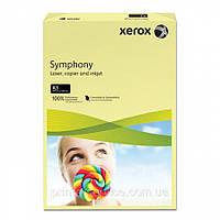 Цветная бумага Xerox SYMPHONY Pastel Yellow (160) A4 250л., фото 1
