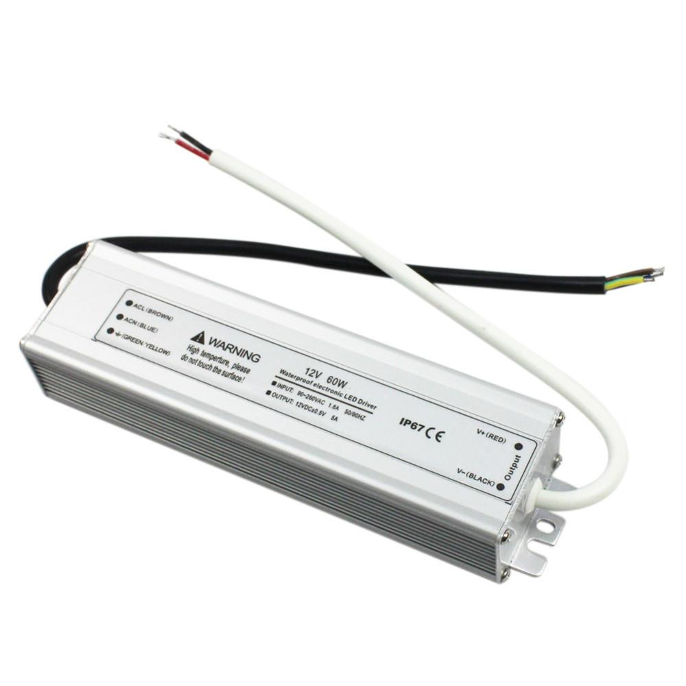 Блок питания герметичный для светодиодной ленты 12в 5А 60вт LEDLIGHT IP65
