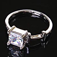 [17,18,19] Кольцо Помолвочное прямоугольный камень