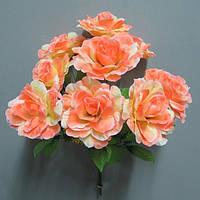 Роза (9 голов) букет искусственный