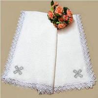 Крыжма из махры для крещения с вышивкой 9 ТМ Глаздов Белый