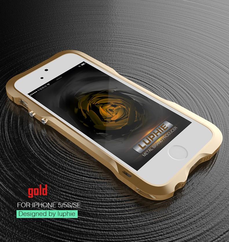 Металлический бампер для iPhone 5 5S SE Luphie