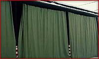Влагостойкие шторы для мастерских, сварочных цехов, гаражей, ангаров из брезента