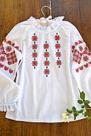 Традиционная детская вышиванка 2 для девочек 3-14 лет из хлопка ТМ Глаздов