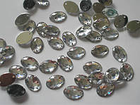 Овалы кристалл 10мм*14мм  1000шт. (Камни пришивные акрил)
