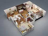 Дизайн интерьера квартиры и комнат