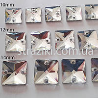 10мм квадрат crystal  (Пришивные квадраты стекло )